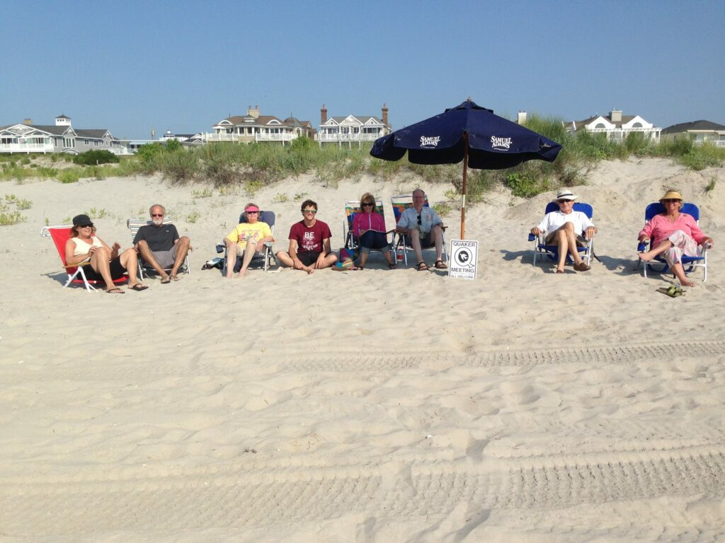 Meeting for Worship on the Beach
