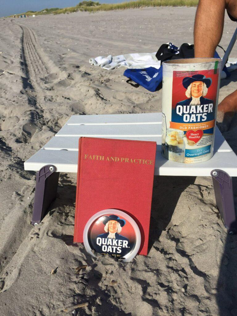 Quaker with Quaker at the beach